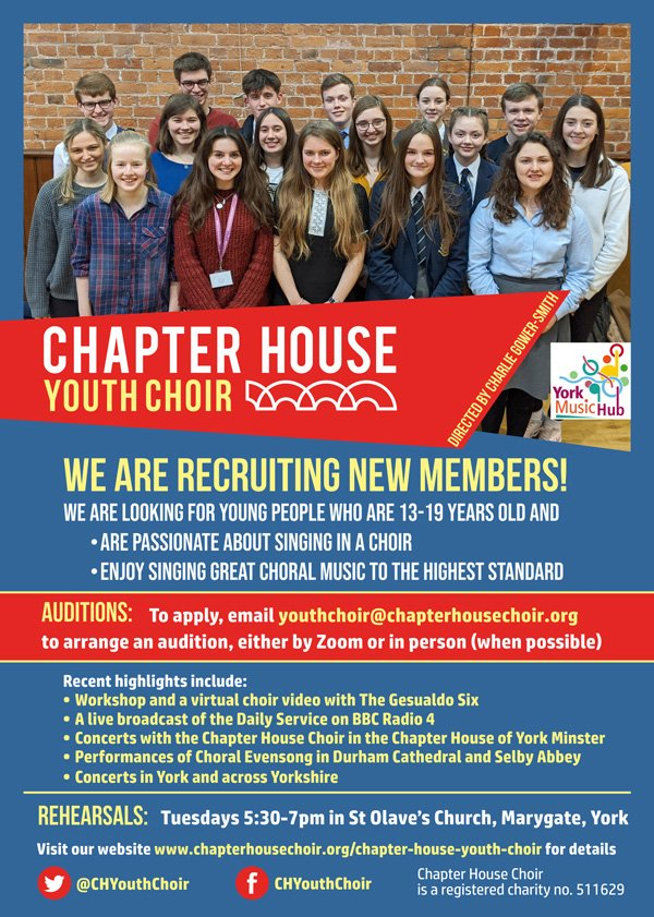 Chapter House Youth Choir Auditions Leaflet